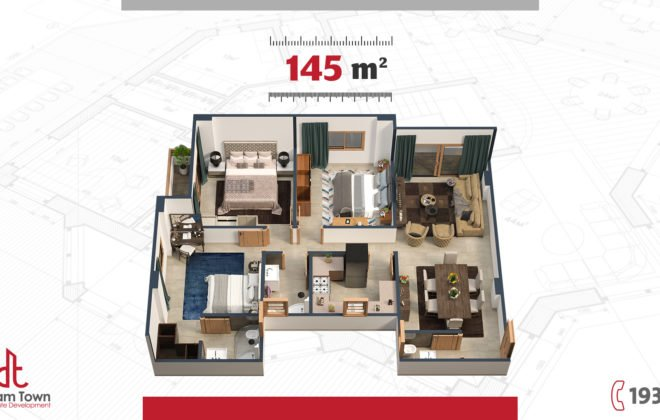 شقة الدور المتكرر ۱٤٥م